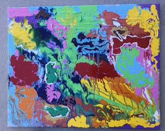 Original  abstract painting -MINGLEMENT AND SOLITUDE