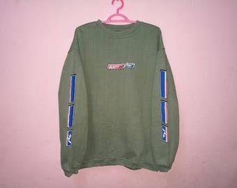 Rare!! Rusty Small Print Spellout Sweatshirt