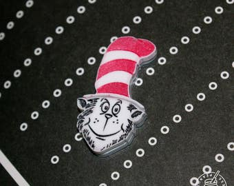 Dr Seuss - Cat in the Hat pin badge