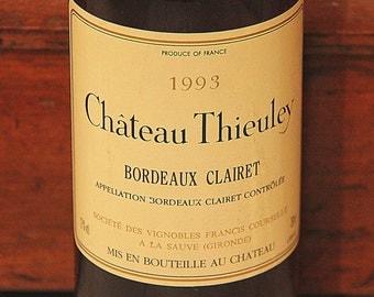 Vintage Clairet Wine: Château Thieuley, Bordeaux Clairet, 1993