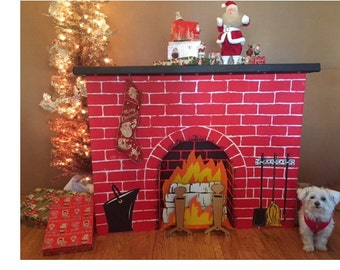 Items Similar To Antique Handmade Faux Fireplace
