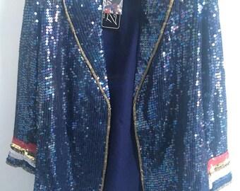 Vintage Sequin Rock Star Blazer