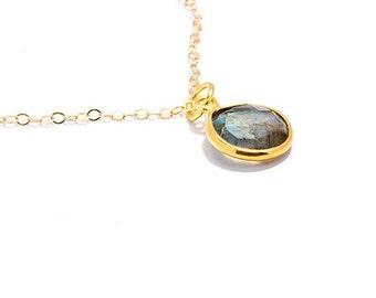Gemstone Necklace in Labradorite