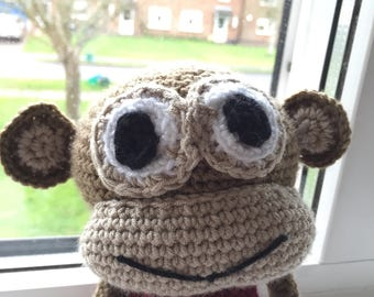 Crochet red top monkey