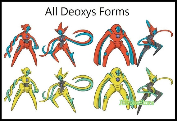 Pokemon Deoxys All Forms Cards Images