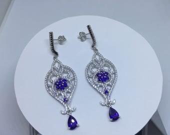 Dangley Lavender Earings ( Free Shipping)