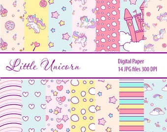 Unicorn Paper, Magical Paper, Fantasy Paper, Fairy Tale Patterns