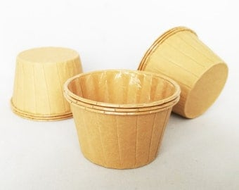 High Quality Pleated Manila Baking Cups Cupcake Cases Muffin Cups
