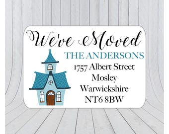 36 x We've moved return address labels, moving announcement stickers, we've moved envelope seal, moving house announcement 068