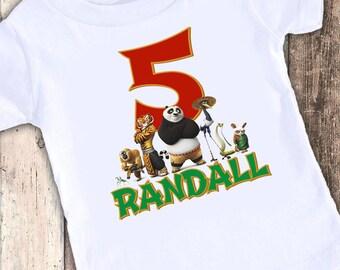 Kung Ful Panda Inspired custom designed birthday t shirt tshirt personalized