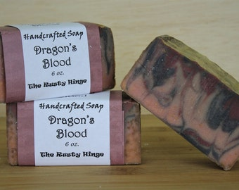 Dragon's Blood Soap Handmade, homemade handcrafted, natural soap