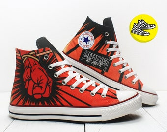 Metallica St.Anger custom painted converse rock style shoes