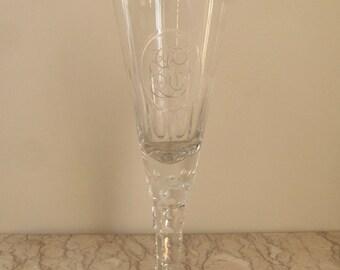 19th c. Bohemian pilsner glass
