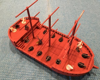 3D Printed triple masted ship for RPG games