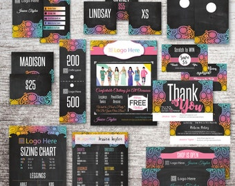 Small Business Lula Marketing Bundle - Business Card Home Office Approved Colors - Spotted Cards - Live Sale - Thank You Care Card - Lula