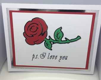 Ps I love you - Love greeting card created by Designs by Xpression