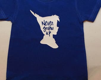 Never grow up youth shirt