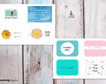 Scrapbook message cards