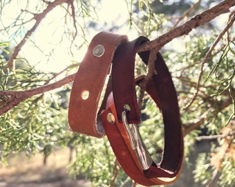 Single Leather Band Bracelet