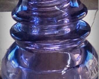 Rare Royal Sun Colored Purple telephone line  insulator Whitall Tatum Co#1