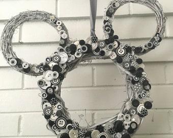 Dapper Mickey Mouse Disney Wreath