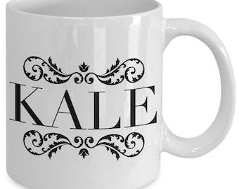 Vegan Gift Coffee Mug - Kale - Unique gift mug for vegan, Vegetarian, him, her, husband, wife, boyfriend, men, women