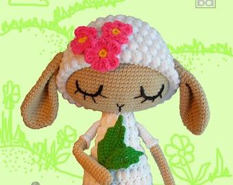 crochet pattern sheep,Lamb Blanche the doll, crochet pattern,sheep crochet pattern,amigurumi pattern,amigurumi,,crochet,amigurumi toys,lamb