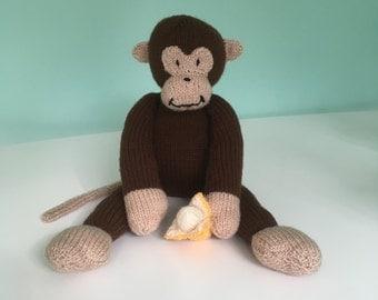 Monkey, Knitted Monkey, Soft Toy