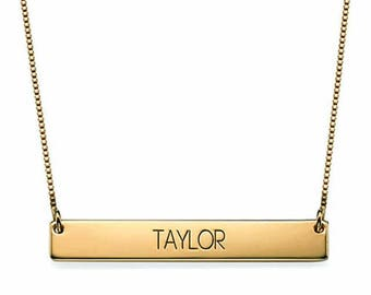 925 sterling silver custom name plate necklace promo woman