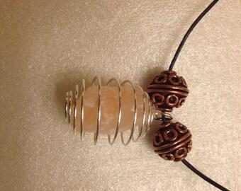 himalayan pink salt pendant
