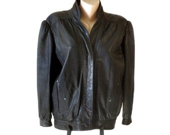 Diffuse par Fleur de Peau France woman genuine leather jacket black