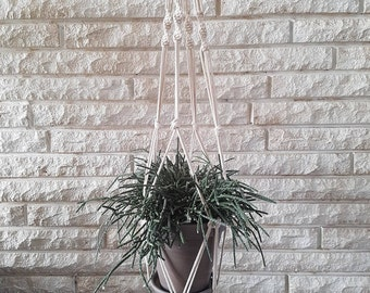 Macrame Plant Hanger with Twist Detail