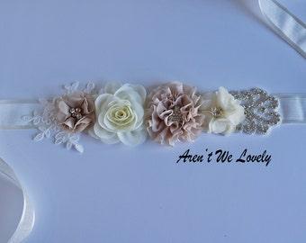 tan belt, bridal belt, ivory bridesmaid belt,maternity belt, bridesmaid belt, maternity sash, wedding belt, tan  belt, flower belt, tan
