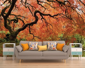 Tree Wallpaper, Forest Wallpaper, Tree Wall Mural, Nature Wall Mural, Nature Wallpaper, Forest Wall Covering, Forest Wall Mural,  Forest