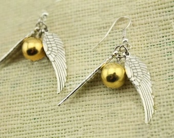 Golden Snitch Earrings (Set of Two) Various Color Combinations