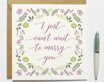 Groom / Bride Wedding Day Card
