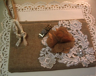 Embellished Altered Wristlet Handbag  Accessory Evening Wedding Purse Shabby Chic Wristlet Collection 2