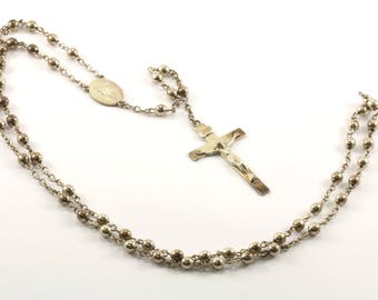 Vintage Inri Signed Cross Crucifix Necklace 925 Sterling Silver NC 622-E