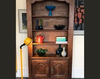 Solid Oak Bookcase Cupboard
