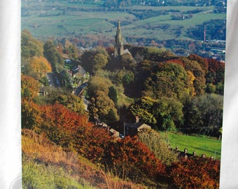 A5 Greetings Card of Holcombe Village - Lancashire -