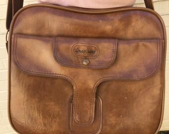 Vintage Genuine Leather Large Purse/Traveling Bag/Messenger Bag