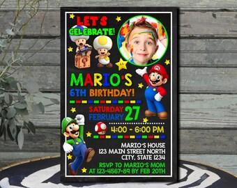 Super Mario / Super Mario Invitation / Super Mario Birthday Invitation / Super Mario Birthday / Super Mario Printable / Super Mario Party