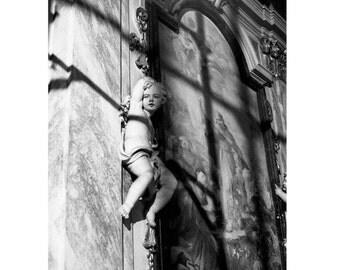 Angel in Florence gelatin silver print selenium toned photograph
