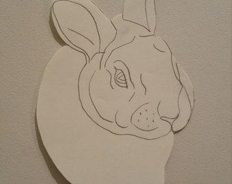 Personalised Rabbit Portrait Pattern