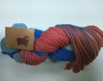 10 skeins of very soft merino wool hand dyed