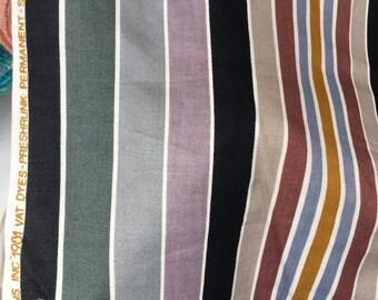 Vintage 1981 - 5th Avenue Designs Stripe Fabric