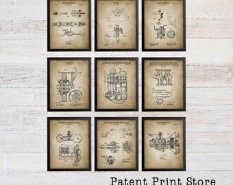 Henry Ford Patent Print Set. Patent Art. Vehicle Component Patent Art. Car Design. Garage Mechanic. Car Repair. Car Parts. Mancave  Art. 139
