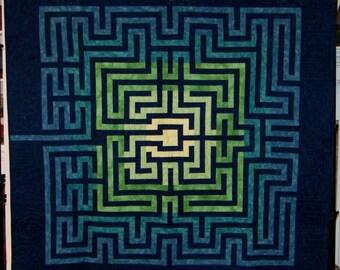 """Modern Maze Quilt - 58"""" x 58"""""""