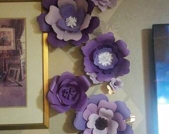 Loving purple flowers backdrop,set of 7