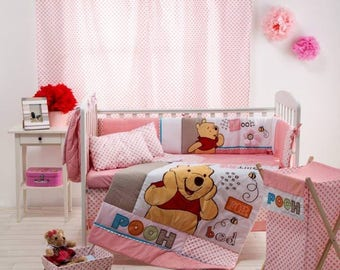 Disney Pooh Sleep Time 4-Piece Crib Bedding Set